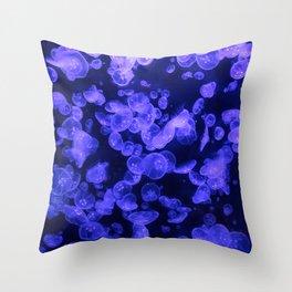 Moon Jellies Throw Pillow