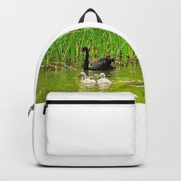 Swan Family Mother Swan and Cygnets Backpack