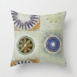 Mayapples Pattern Flowers  ID:16165-061955-58480 Throw Pillow