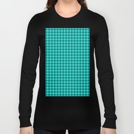 Teal and Turquoise Diamonds Long Sleeve T-shirt
