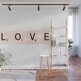 LOVE Scrabble Tiles Horizontal Wall Mural