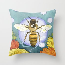 Spirit of the Bee Throw Pillow