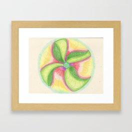 Flowing Mandala Framed Art Print
