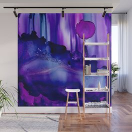Shades of Purple Abstract Wall Mural