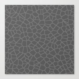 Staklo (Gray on Gray) Canvas Print
