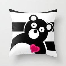 Curiosity killed the Bear Throw Pillow