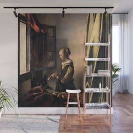 Johannes Vermeer - Girl Reading a Letter at an Open Window Wall Mural