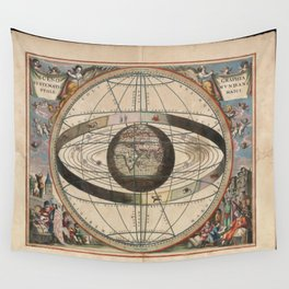 Scenography of the Ptolemaic cosmography Wall Tapestry