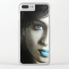 'Amy 'n' Blues' Clear iPhone Case
