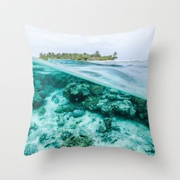 Underwater Maldives Throw Pillow