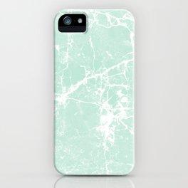 Modern vintage mint white elegant marble iPhone Case