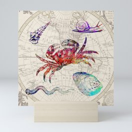 vintage sea life Mini Art Print