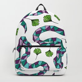 Geometric Snakes and Ginkgo Leaves Backpack