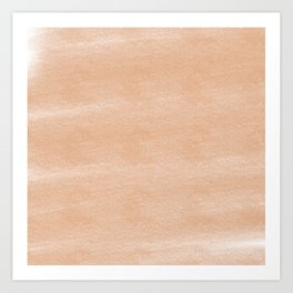 Chalky background - orange Art Print