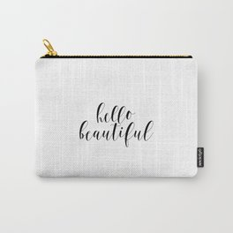 Hello Beautiful, Love Art, Couple Art Carry-All Pouch