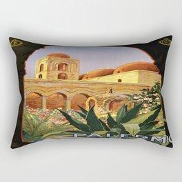 Vintage poster - Palermo Rectangular Pillow