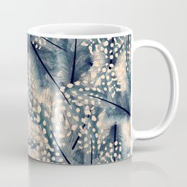 Ancona feathers - smooth beige with blue Coffee Mug