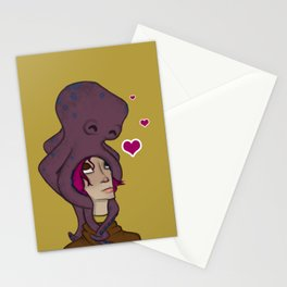 Octopus Head Stationery Cards