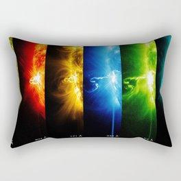 Solar Flare Rainbow Rectangular Pillow