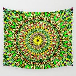 Floral Sun Garden Mandala Wall Tapestry