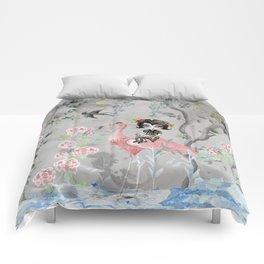 Grey sky Comforters