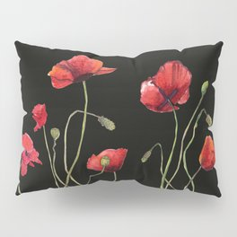 Poppies at Midnight Pillow Sham