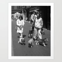 Women in Rouen Art Print
