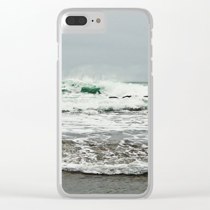 Sea Breaks on the Tidal Shelf Clear iPhone Case