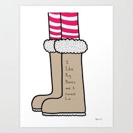 Big Boots Art Print