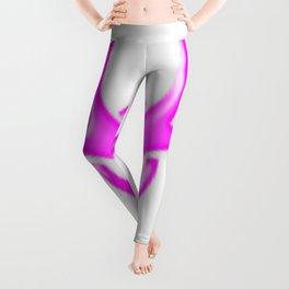 Pink Biological Hazard Symbol Leggings