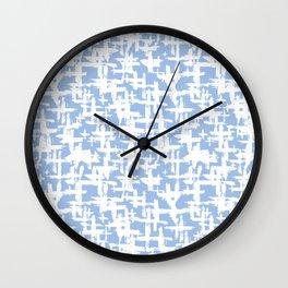Brush cross on  blue Wall Clock