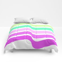 Bends Style 2 Top Color skewing Abstract; new gray decorations;Love is allowed Comforters