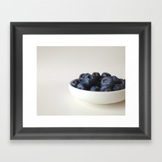 Fresh Blueberries (version 1) Framed Art Print