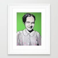 parks Framed Art Prints featuring Rosa Parks by Andrea Tardivo