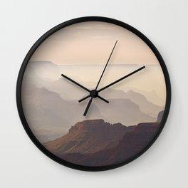 Misty Canyon Wall Clock