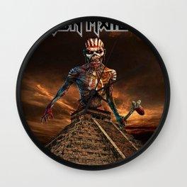 iron maiden album 2021 dede22 Wall Clock
