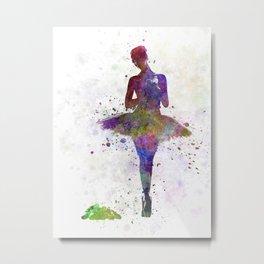 Woman ballerina ballet dancer dancing  Metal Print