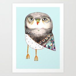 Owl by Ashley Percival Art Print