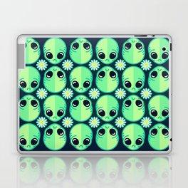 Sad Alien and Daisy Nineties Grunge Pattern Laptop & iPad Skin