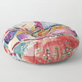 View of Collioure - Henri Matisse - Exhibition Poster Floor Pillow