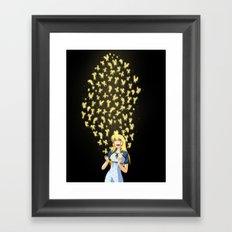 Golden Butterflies Framed Art Print