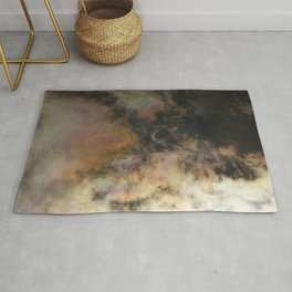 Solar Eclipse and Clouds Rug