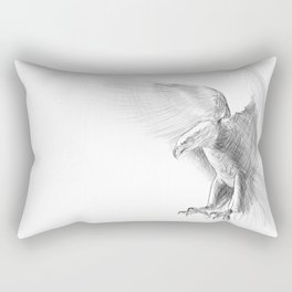 Eagle - pencil drawing Rectangular Pillow