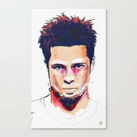 tyler spangler Canvas Prints featuring Tyler by Brito78
