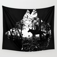 princess mononoke Wall Tapestries featuring Mononoke Forest by kamonkey