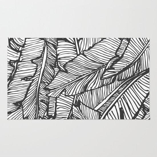Black white jungle society6 decor buyart rug by designdn society6