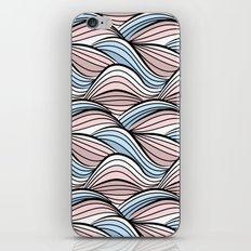 Thread pink blue iPhone & iPod Skin