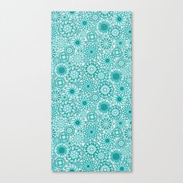 Ceramic Flowers (Atoll) Canvas Print