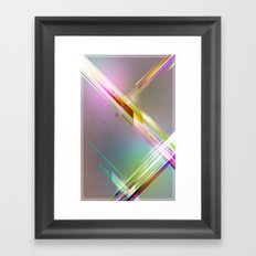 Abstract Futuristic Poster Framed Art Print