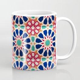 -A21- Traditional Colored Moroccan Mandala Artwork. Coffee Mug